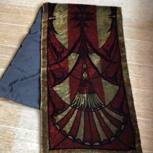 Art Deco Velvet wrap scarf